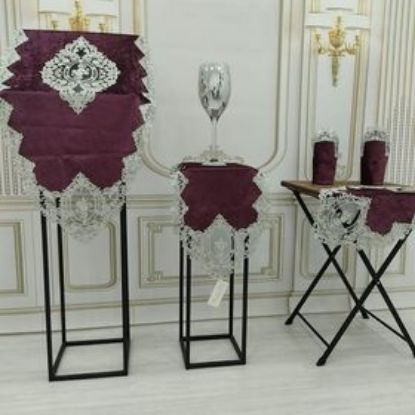 Picture of Velvet living Room Set 5 Pieces